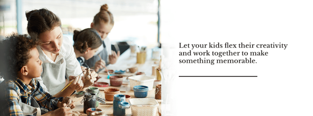 Let your kids flex their creativity and work together to make something memorable