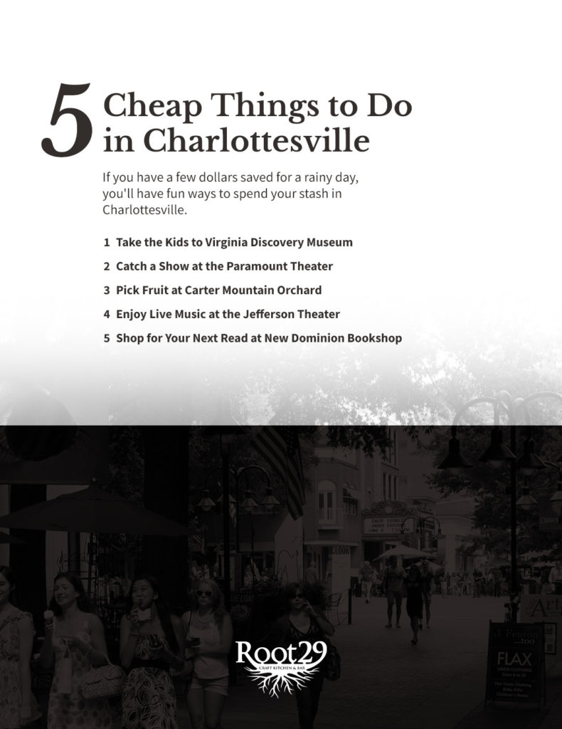 5 Cheap Things To Do In Cville